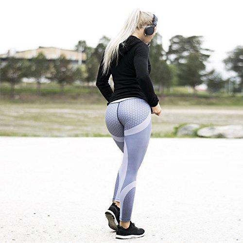 Sfit Femme Leggings Pantalon Collant Yoga Fitness Jogging Gym Élastique Stretch
