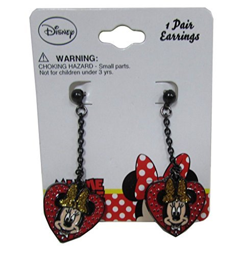 [Disney Minnie Mouse Baby Girls Dress Up Accessory - Earring Set - Red Black] (Maleficent Toddler Costumes)