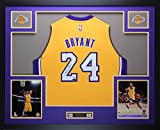 pictures of kobe bryant - Kobe Bryant Autographed Gold Lakers Jersey - Beautifully Matted and Framed - Hand Signed By Kobe Bryant and Certified Authentic by Auto PaniniCOA - Includes Certificate of Authenticity