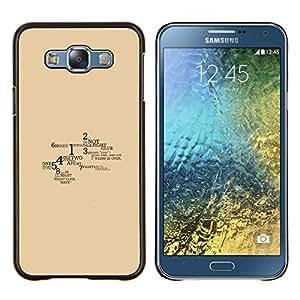 LECELL--Funda protectora / Cubierta / Piel For Samsung Galaxy E7 E700 -- Lucha Reglas del Club --