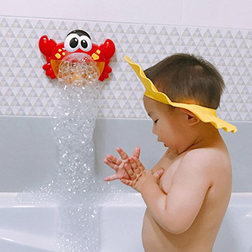 Price comparison product image Dreamyth Crab Automatic Baby Shower Bubble Machine Blower Maker Party Summer Outdoor Toy for Kids Durable Gift