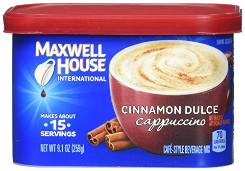 (Maxwell House International Cafe Flavored Instant Coffee, Cinnamon Dulce Cappuccino, 4 Count, 36.4 Ounce)