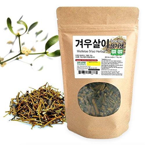 [Medicinal Korean Herb] Mistletoe (Visci Herba/Viscum album/Hujisheng / 겨우살이) Dried Bulk Herbs 4oz - Mistletoe Leaf
