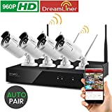 Cheap [Dream Liner WiFi Booster] xmartO WOS1344 4CH 960p HD Wireless Security Camera System with 4x960p HD Wireless Outdoor IP Cameras (Built-in Router, 1.3MP Camera, IP66, 80ft IR, No HDD)