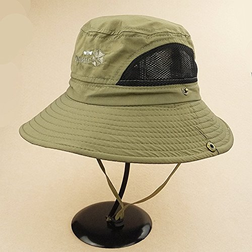 mocase redonda (Tamaño Grande Ala cubeta Sombrero al aire última intervensión de secado rápido hombre sombrero Summer Sun...