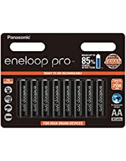 Panasonic AA Ready-To-Use Ni-MH Rechargeable Eneloop Pro Batteries, 8-Pack (BK-3HCCE/8BT)