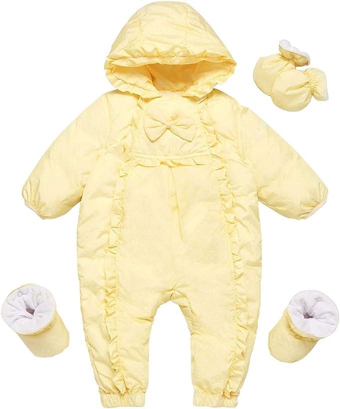 3-6 Monate Baby Schneeanzug Spielanzug Winter Overall Rei/ßverschluss Vorne