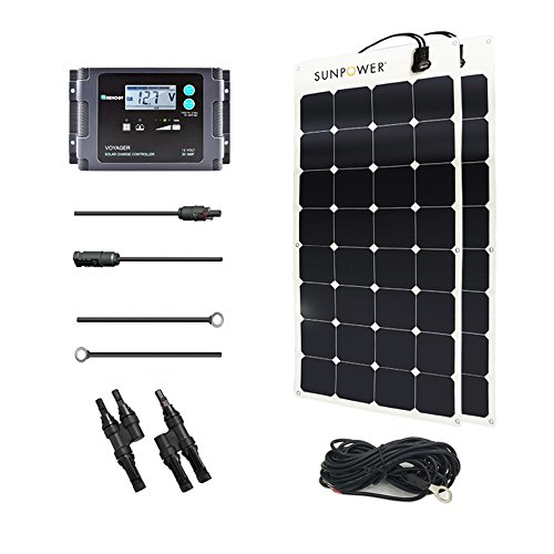 Renogy 200 Watt 12 Volt Solar Marine Kit with Sunpower Flexible Solar Panel and Waterproof Charge Controller by Renogy