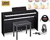 Casio PX-870 Black Privia Digital Home Piano, Black Student Bundle 2