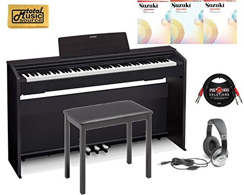 Casio PX-870 Black Privia Digital Home Piano, Black Student Bundle 2 by Casio