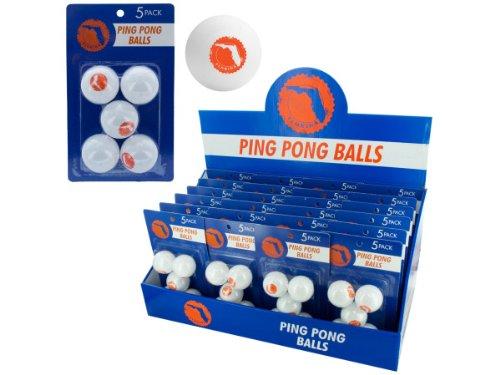 bulk buys Florida Ping Pong Balls (Countertop Display), White/Orange by bulk buys
