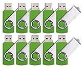 DDC 50pcs 1GB USB 2.0 Flash Drive Memory Stick Fold Storage Thumb Stick Pen Swivel Design Green