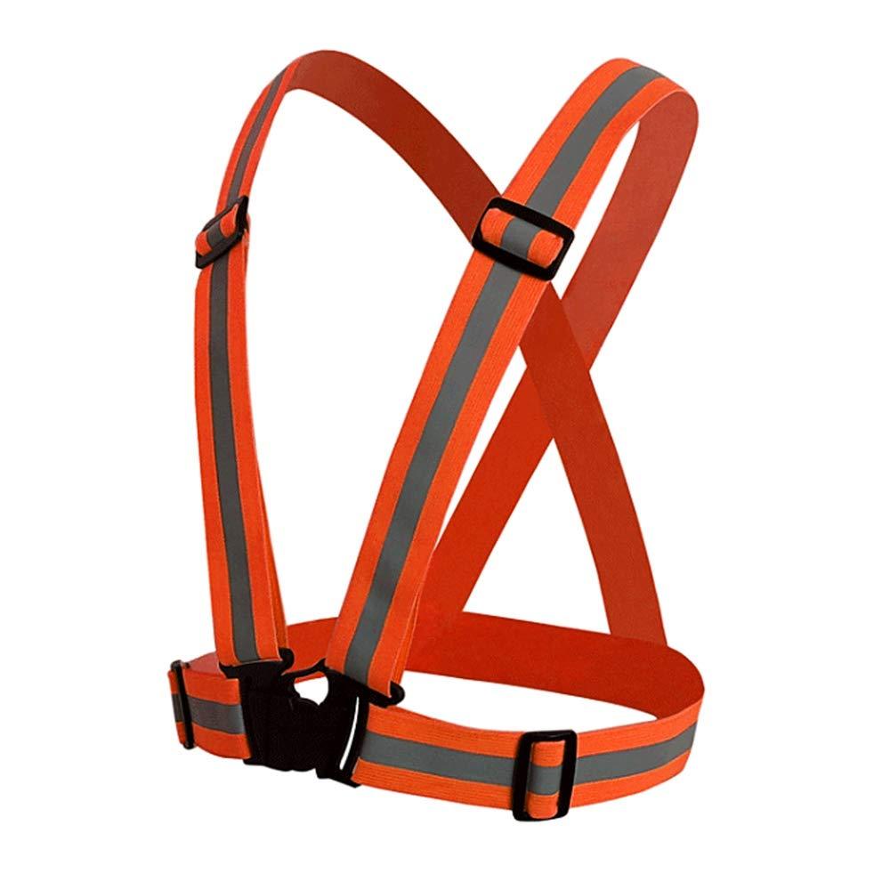 Jacinto Gilet Riflettente Regolabile In Alta Visibilità Vis Vis Viz Visibility Safety, Rosso Arancio