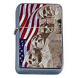 Vintage American Flag Flip Top Oil Lighter D9 Patriotic Freedom American Heroes Veterans
