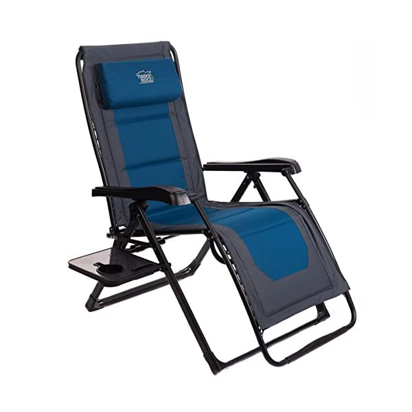 Timber Ridge Oversize XL Padded Zero Gravity Chair - Blue/Grey