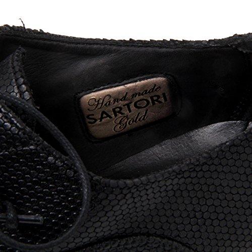 SARTORI Donna E6850 GOLD Nero Shoe Scarpe Scarpa Black Woman Classica rqSrxPw