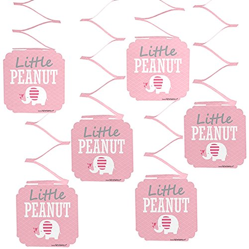 (Big Dot of Happiness Pink Elephant - Girl Baby Shower or Birthday Party Hanging Decorations - 6)