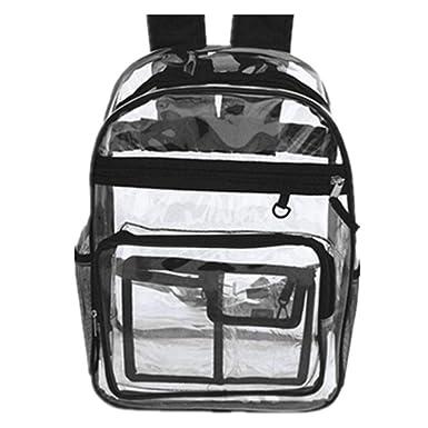 HWYP Mochila transparente bolsa de hombro examen bolsa transparente bolsa de playa impermeable bolsa de natación bolsa mujer bolso de hombre: Amazon.es: ...
