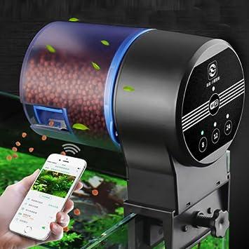 Dewin Alimentador de Peces - Alimentador de Peces automático del Acuario programable WiFi, dispensador automático