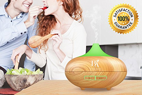 Bel Air Naturals Essential Oil Diffuser for Home, Office & Bedroom, Ultrasonic Cool Mist Aroma Humidifier Bacteria Cleaner, 150 mL