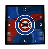 The Memory Company MLB Chicago Cubs Official Carbon Fiber Square Clock, Multicolor, One Size