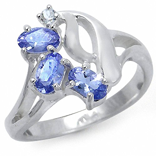 White Topaz Gold Plated 925 Sterling Silver Cluster Ring Size 5 ()