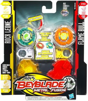 Beyblade Metal Fusion Battletop Faceoff - Lion Gale Force Wall (145WB + 100F) by Beyblade