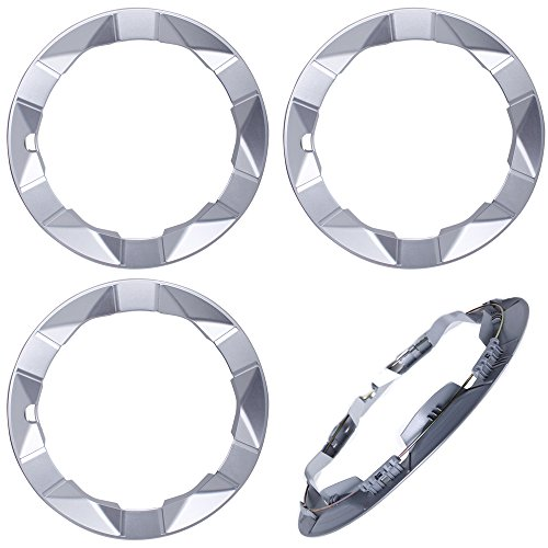 15 inch Hubcaps Best for 2004-2009 Toyota Prius - (Set of 4) Wheel Covers 15in Hub Caps Silver Rim Cover - Car Accessories for 15 inch Wheels - Snap On Hubcap, Auto Tire Replacement Exterior Cap (Prius Cover Wheel)