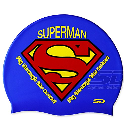 Swimming Cap Superman Logo Vector Swim Silicone Head - Vector Man Swimming