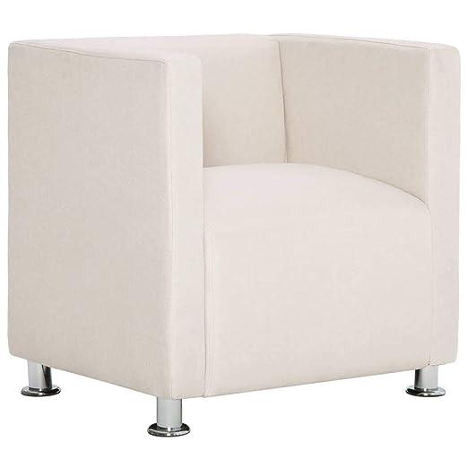 vidaXL Sillón Forma Cubo Cuadrado Tapizado Poliéster Diseño ...