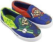 SUPER MARIO Brothers Mario & Luigi Boys Shoes, Nintendo Sneaker Easy Slip-on, Little Kid/Big Kid, Size 10
