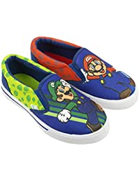Brothers Mario & Luigi Boys Shoes, Nintendo Sneaker Easy Slip-on, Little Kid/Big Kid, Size 10 to 3