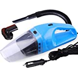 Semoss Handheld Portable Wet and Dry 12V 120W Car Vacuum Cleaner Super Suction with 5M Power Cord and 4 accessories - Blue