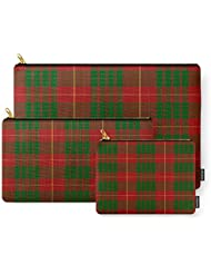 Society6 Cameron Red & Green Tartan Pattern #2 Carry-All Pouch
