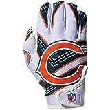 NFL Chicago Bears Youth Receiver Gloves,White,Medium