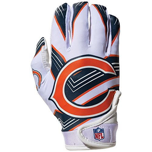 Chicago Bears Nfl (NFL Chicago Bears Youth Receiver Gloves,White,Medium)