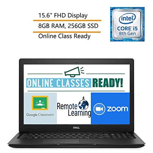 "Dell Latitude 3500 15.6"" FHD Business Laptop Computer, 8th Gen Intel Quad-Core i5-8265U(Beat i7-7500U), 8GB DDR4 RAM, 256GB SSD, Windows 10 Pro, iPuzzle Mouse Pad, Online Class Ready, Webcam"