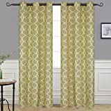 """Cheap Alice Brown Circle Drapes, Fashion Design Print Thermal Insulated Curtain Grommet Top Living Room 2 Panels W42"""" x L84"""""""
