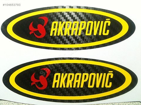 Akrapovic Carbon Kevlar Sticker Decal 2pcs Yoshimura