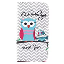 S4 Case, Galaxy S4 Case,Gift_Source [Owl] [Wallet Function] [Stand Feature] Magnetic Snap Case Wallet Premium Wallet Case Flip Case Cover for Samsung Galaxy S4 i9500 Case