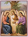Russian Orthodox Icon the Old Testament Trinity, Holy Trinity, 24x18cm