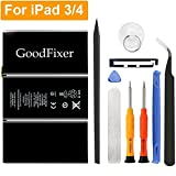 GoodFixer Replacement Battery Compatible with Apple iPad 3/iPad 4, Complete Repair Tools Kit, Adhesive Strip, New 0 Cycle 11560mAh Li-ion Replacement Battery [365 Days Warranty]