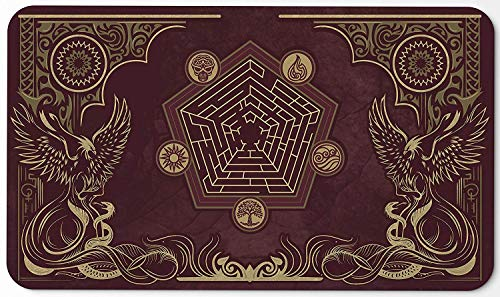Paramint Flamewake Phoenix | MTG Playmat | Perfect for Magic The Gathering, Pokemon, YuGiOh, Anime | TCG Card Game Table Mat | Durable, Thick, Cloth Fabric Top with Rubber Bottom by Daniel Ziegler