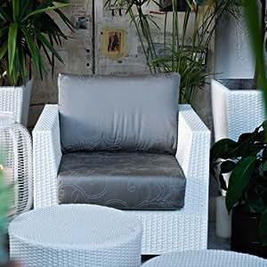 Giada Outdoor Sofa Chair by Varaschin R and D Colour: White, Cushion: Sun Cocco
