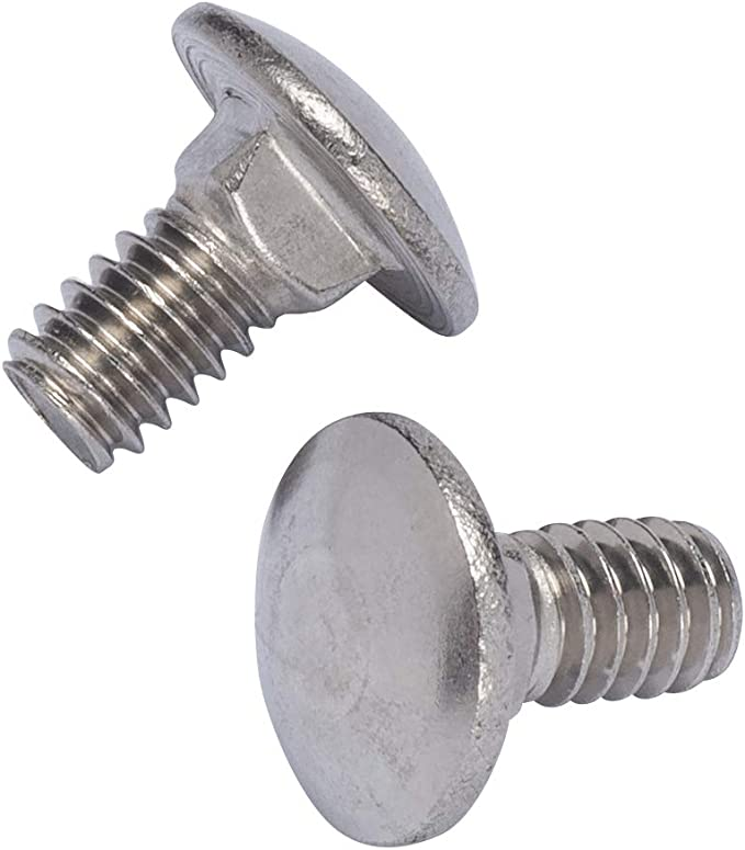 18-8 2 pcs Square Neck 5//8-11 X 4 Round Head AISI 304 Stainless Steel Carriage Bolts Full Thread
