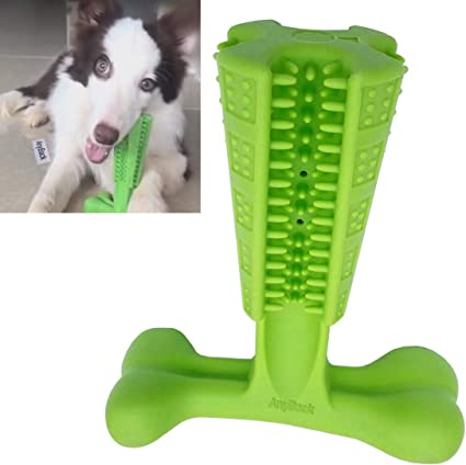 Anyback Bite Toys For Dogs Stick Toy Dog Toothbrush Chew Toys Pet Chew Bite Brushing Stick Teething Brush Toy For Body Weight 25 To 40 Lbs Of Medium