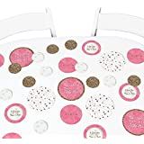 Pink Twinkle Twinkle Little Star - Baby Shower or Birthday Party Giant Circle Confetti - Party Decorations - Large Confetti 27 Count