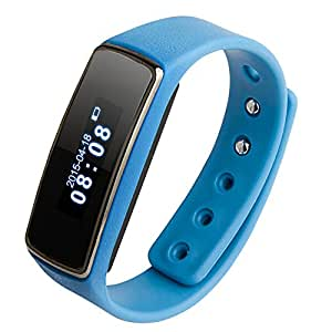 """Soyan V5 Fitness 0.91"""" OLED Bluetooth Smartwatch Smart Bracelet Health Watch Wristband Wrist Wrap Sports Pedometer with Sports&Sleep Tracking For Android 4.3 or Above (Blue)"""
