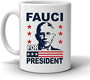 Fauci Theme Coffee Mug 11 oz Ceramic Gift Cups Black/white Funny Office Bar Home Mugs