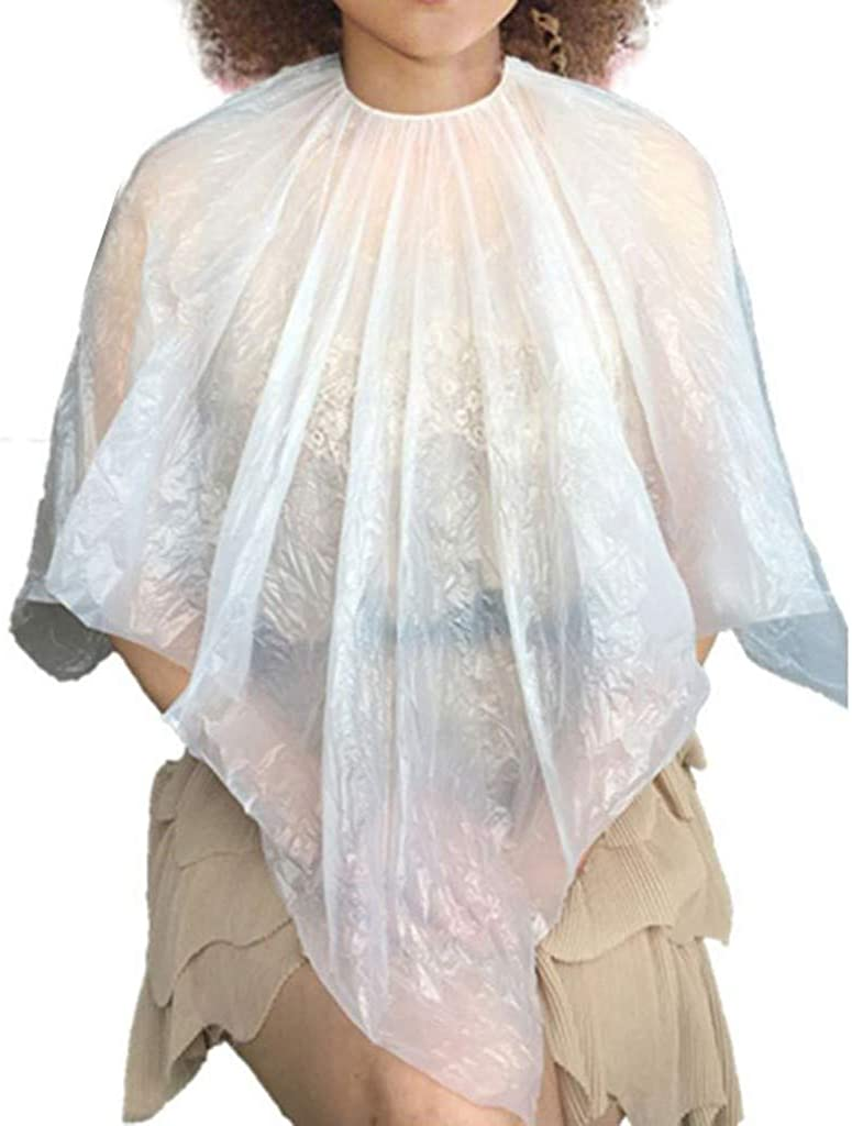 SSDXY 100 Pcs Disposable Hair Dyeing Shawl Hair Treatment Hair Color Cape Perm Tools,Washing Cape Tool for Hair Cutting
